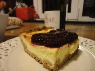Cheesecake au coulis de fruits rouges